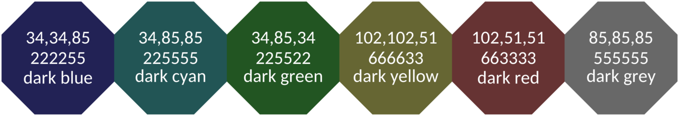 Figure 5 Pale And Dark Qualitative Colour Schemes Where The Colours Are Not Very Distinct In Either Normal Or Blind Vision They Meant For